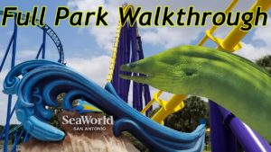 seaworld san antonio full park walkthrough 2020 with the legend